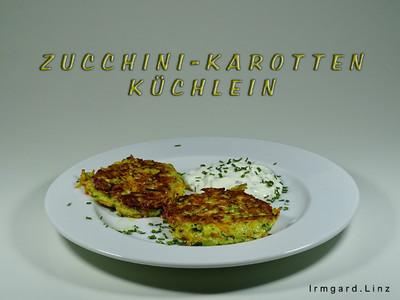 Zucchini-Karotten-Küchlein Rezept