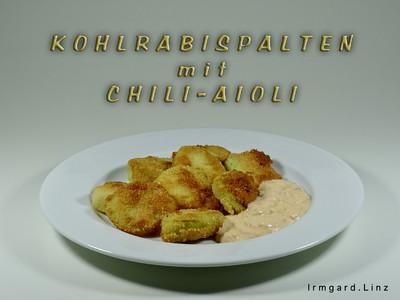 Kohlrabispalten mit Chili-Aioli Rezept