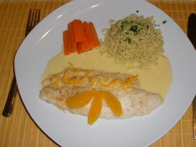 Pangasius in Orangensoße Rezept