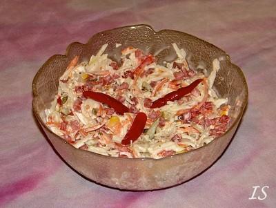 Weißkrautsalat mit Schinken Rezept