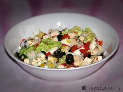 Chili-Tofu-Salat Rezept