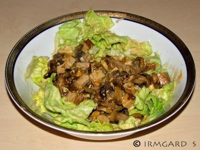 Chilitofu-Champignon-Salat Rezept