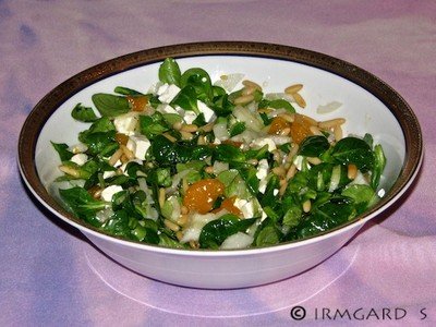 Mandarinen-Vogerlsalat Rezept