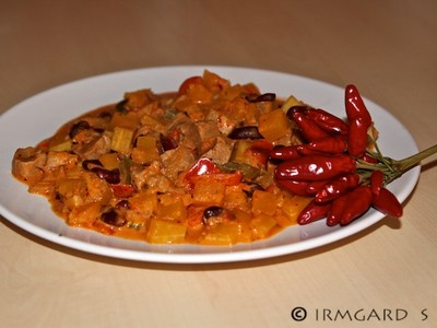 Chili con Kürbis Rezept