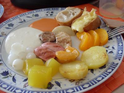 Raclette mit zweierlei Fleisch Rezept