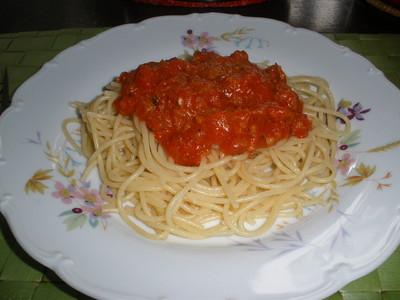 Spagetti Arrabiatta Rezept