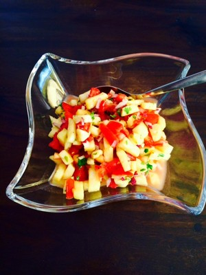 Ananas-Tomaten Salat Rezept