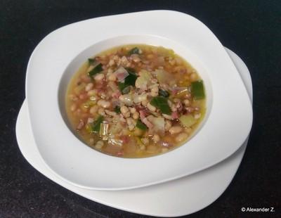 Speck - Bohnensuppe mit Lauch Rezept