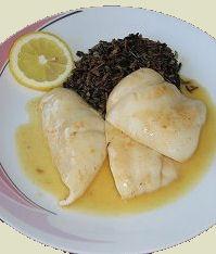 Gebratene Calamari auf Zitronensauce  Rezept