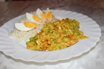 Karotten-Erbsen-Curry Rezept