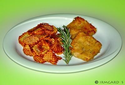 Dorsch Meuniére mit Gitterkartoffeln Rezept