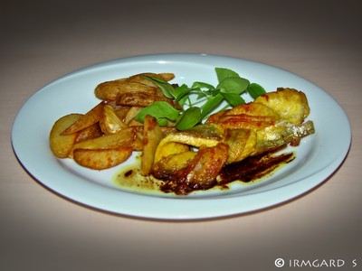 Fischzöpfchen mit Kartoffelwedges Rezept