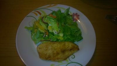 Hühnerbrust mit buntem Salat Rezept