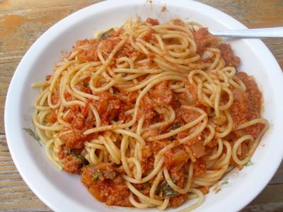 Spaghetti mit Paradeiser-Nuss-Sauce   Rezept