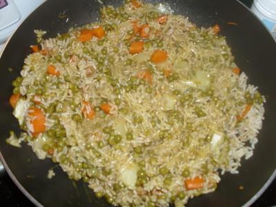 Süß-saure Reispfanne mit Chicoree Rezept