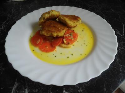 Hirsebratlinge mit Ingwer-Apfel-Möhrengemüse Rezept