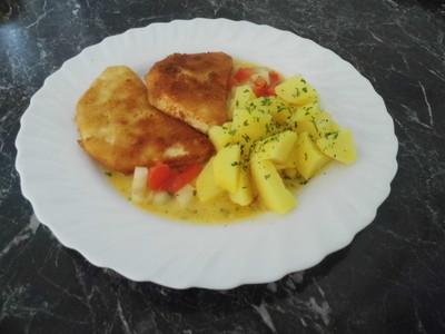 Sellerieschnitzel mit Paprikasoße Rezept