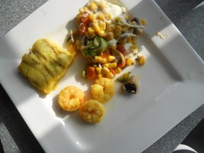 Curryfisch allerlei mit Mozzarellagemüse Rezept
