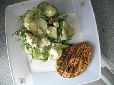 Gurken-Rucola-Salat mit Schafskäse Rezept