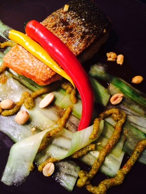 Fisch-Gurke-Erdnuss Rezept