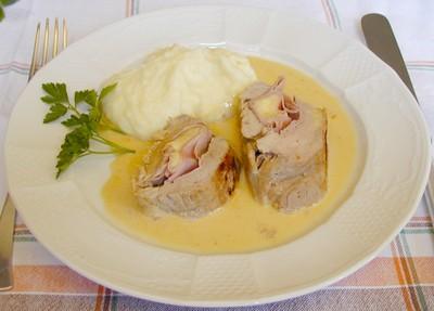 Gefülltes Schweinsfischerl á la Cordon bleu Rezept