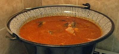 Halaszle –scharfe ungarische Fischsuppe auf Fritz-Art Rezept