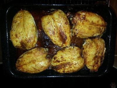 Hähnchenbrust mit Honig und Knoblauch Rezept