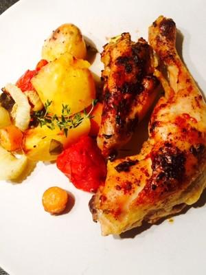 Herbstmenü: Hühnchen+Schmorgemüse Rezept