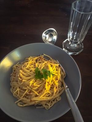 Spaghetti con aglio e olio  Rezept