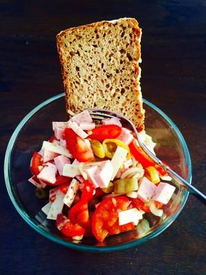 Wurstsalat mit Kürbiskernöl Rezept