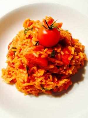Tomaten Risotto mit Pinienkerne Rezept