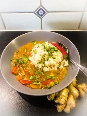 Gemüse Curry mit Pilze  Rezept