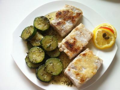 Dorschfilet mit gedünsteten Zucchini Rezept