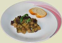 Gebratene Auberginen mit Knoblauchbrot Rezept