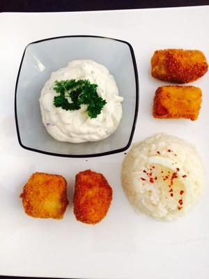 Lachs-Nuggets mit Butterreis Rezept
