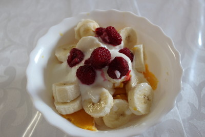 Mangosalat mit Banane Rezept