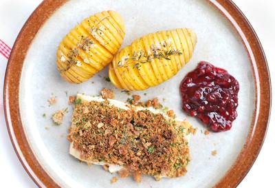 Lachs mit Knäckebrotkruste und schwedischen Kartoffeln Rezept