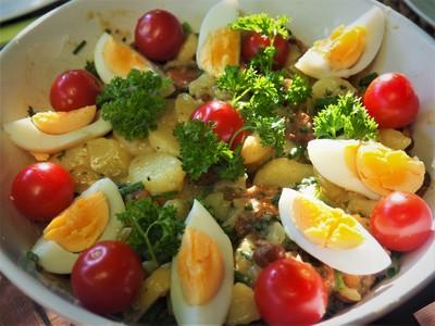 Kartoffel-Eierschwammerl-Salat Rezept