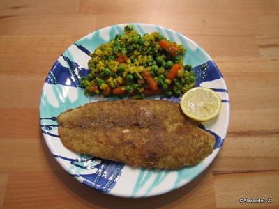 Pangasius gebraten m. Gemüse Rezept