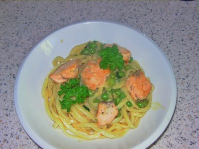 Zitronige Lachs-Spaghetti Rezept