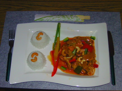 China Huhn mit Nüssen Rezept