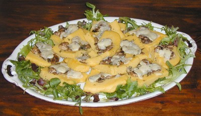 Polentaschnitten mit Pilzen Rezept