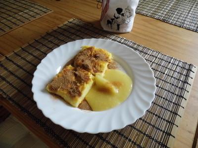 Grießschnitten mit Apfelmus Rezept