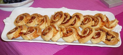 Schinken-Käse-Schnecken Rezept