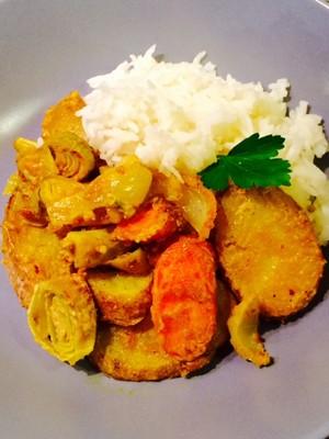 Schmorgemüse mit Tahin-Sauce ( vegan) Rezept