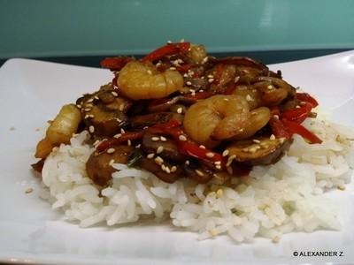 Shrimps süßscharf Rezept