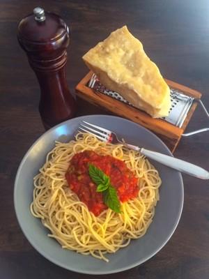 Nudeln mit Tomaten- Minze Sauce Rezept