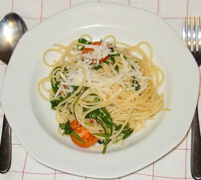 Spaghetti mit Rucola Rezept