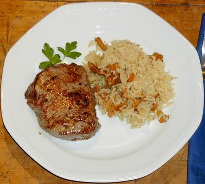 Steak mit Schwammerlreis Rezept