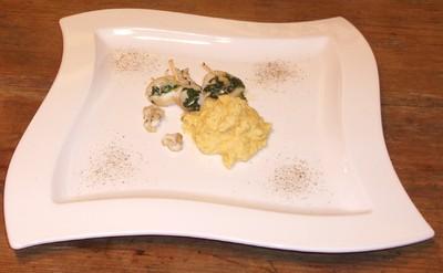 Tintenfisch mit Spinat-Schafkäsefülle Rezept